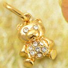 9k Gold Filled Cubic Zirconia Bear Pendant