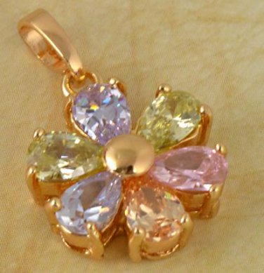 9k Gold Filled Flawless Zirconia Pendant