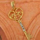 9k Gold Filled Arab Style Key Pendant