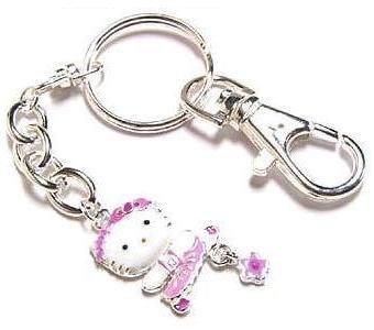 Hello Kitty Keychain Collectible Pink Daisy