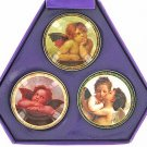 Angel Cherub Pill Box Purse Container SET OF 3