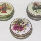 Floral Pill Box Purse Container SET OF 3