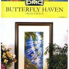 DMC's BUTTERFLY HAVEN Counted Cross stitch Pattern