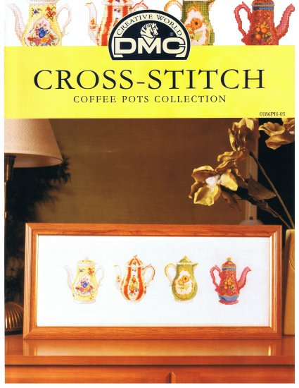 DMC's COFFEE POTS Collection Counted Cross Stitch Pattern