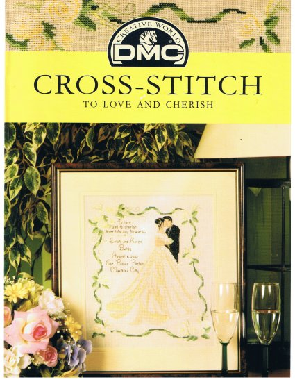 DMC's WEDDING Counted Cross Stitch Pattern