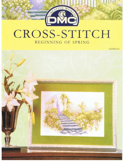 DMC's BEGINNING OF SPRING Counted Cross Stitch Pattern