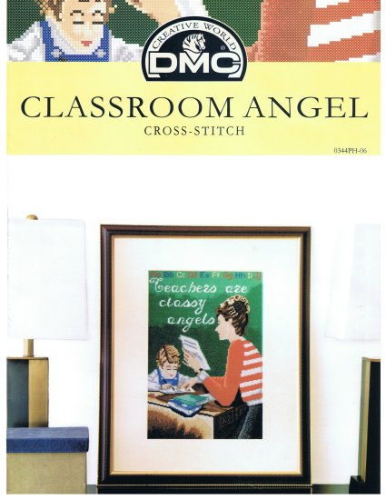 DMC's CLASSROOM ANGEL Counted Cross Stitch Pattern