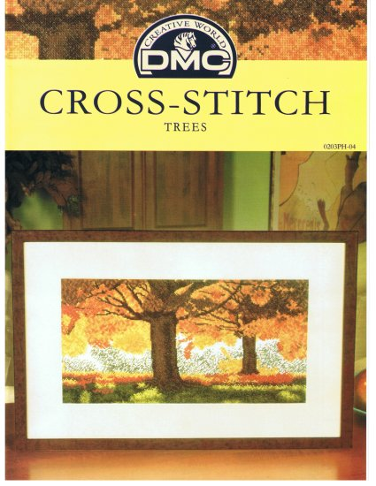 DMC's TREES Counted Cross Stitch Pattern