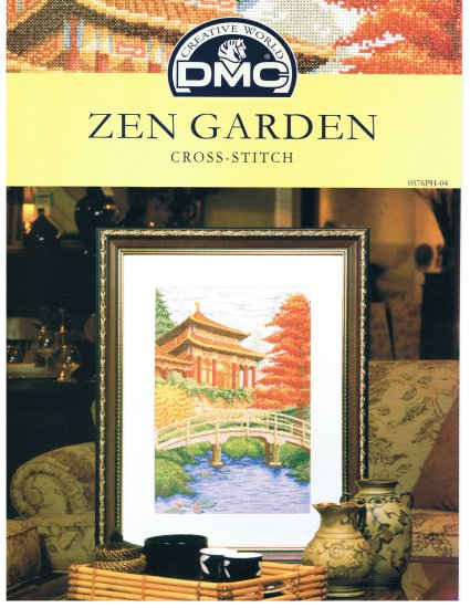 DMC'S ZEN GARDEN Counted Cross stitch Pattern