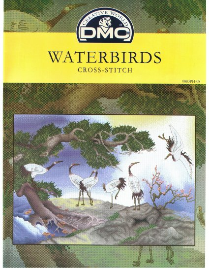 DMC's WATERBIRDS Counted Cross Stitch Pattern