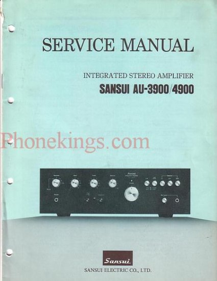 Sansui  AU-3900 / AU-4900 amplifier  Service  manual