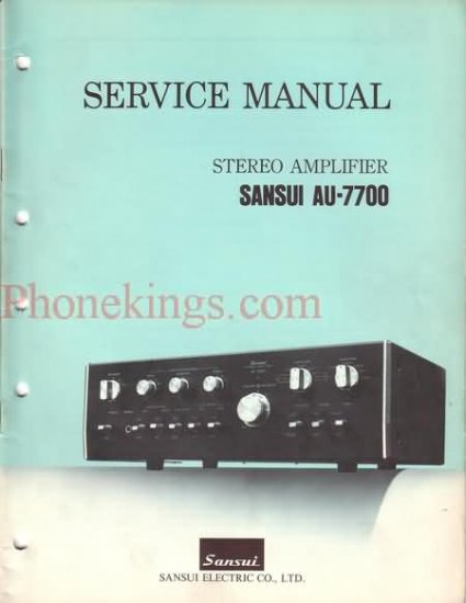 Sansui  AU-7700 Stereo  amplifier  Service  manual
