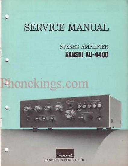 Sansui  AU-4400  Stereo  amplifier  Service  manual