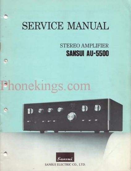 Sansui  AU-5500  Stereo amplifier  Service  manual
