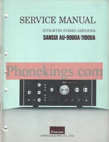 Sansui  AU-9900a  AU-11000a amplifier  Service  manual