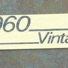NEW Original Marshall amp Logo  Plate 1960 Vintage