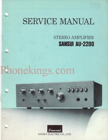 Sansui  AU-2200  Stereo  amplifier  Service  manual