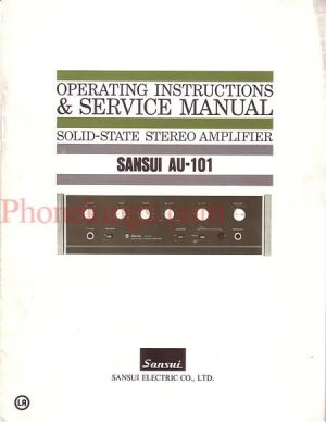 Sansui  AU-101 Stereo amplifier  Service  manual