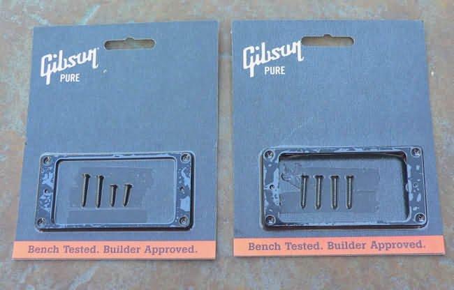 Genuine Gibson Les Paul  pickup rings set  Black