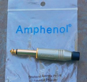 "NEW Amphenol  Gold 1/4"" phone jack Male   10 Pack  PLUG"