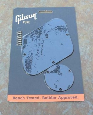 Gibson Backplate set switch and  control cover Black