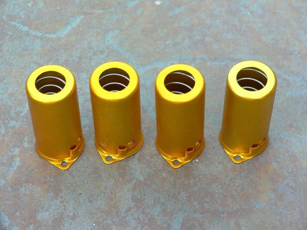 12ax7 Tube Shield - 9 Pin Gold  (4)