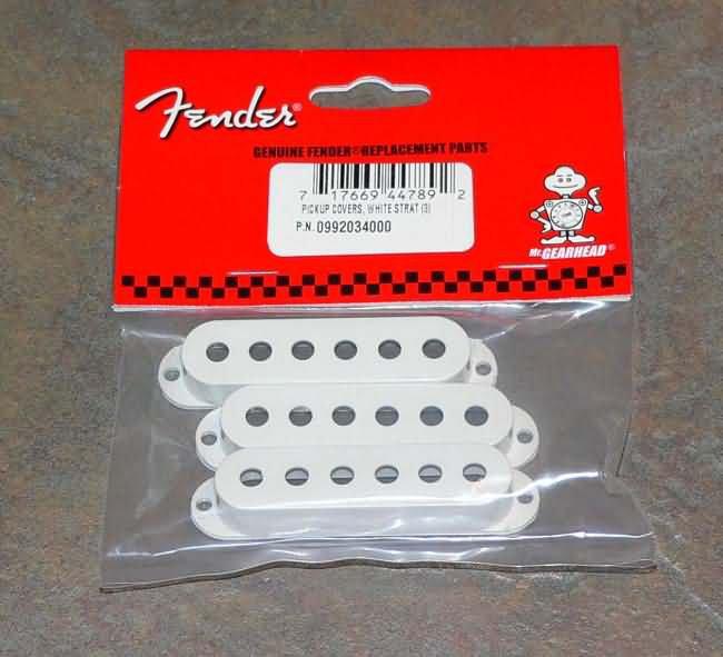 NEW Fender stratocaster strat Pickup Covers White