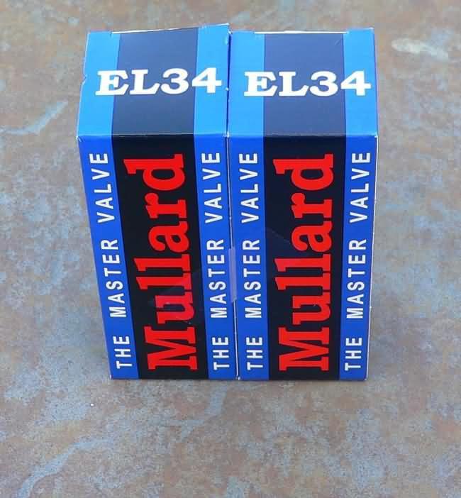 NEW  Matched Pair of Mullard  EL34 / 6CA7 tubes EL 34's
