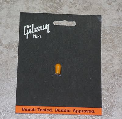 NEW Gibson Pickup switch tip cap Amber