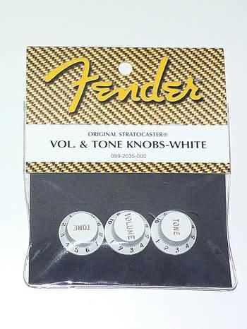 NEW Genuine Fender stratocaster strat Tone Vol knobs W