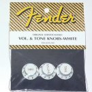 NEW Genuine Fender stratocaster strat Tone Vol knobs W
