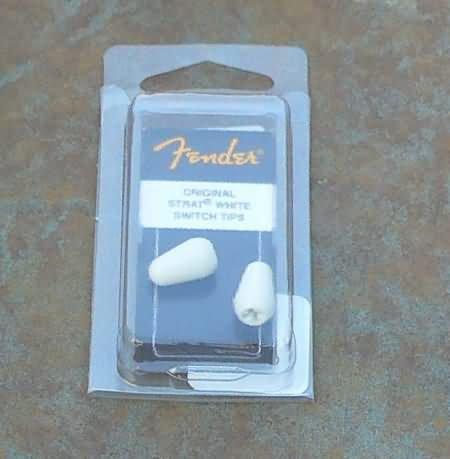Fender Stratocaste strat   Switch tip (2) White
