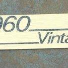 Marshall amplifier Logo  Plate 1960 Vintage