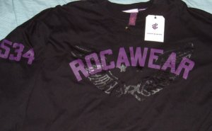 Rocawear Black Roc Big Tall Shirt 5x 5xl 5xlt