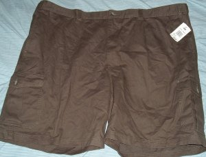 Izod Green/BrownCargo Big Tall Shorts Sz 52