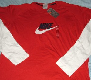 Nike Air Red Logo Big Tall T Shirt 5xl 5x NWT