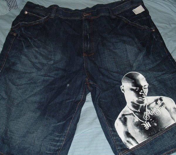 Makaveli Blue Denim Jeans Big Tall Shorts Sz 52