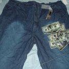 Makaveli Blue Denim Jeans Big Tall Shorts Sz 50