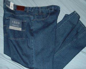 Izod Blue Denim Big Tall Jeans Pants W 46 L 32