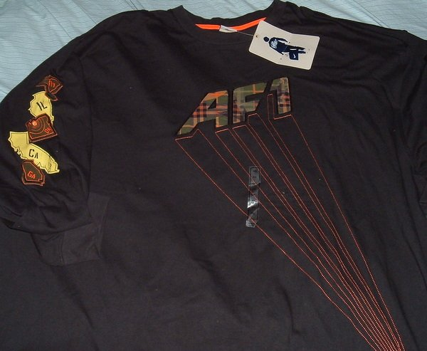 Nike Air Force 1 BRS Black Big Tall T Shirt 4x 4xl