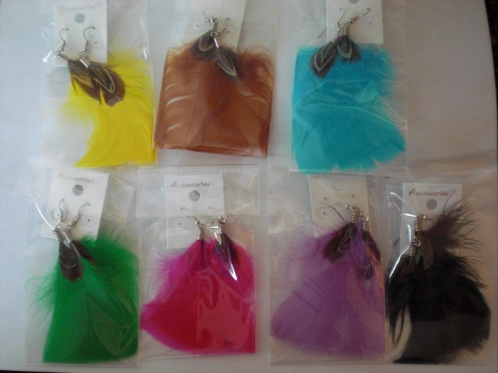 Dangling Feather Earrings