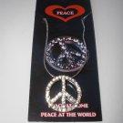 Rhinestone Peace Necklace