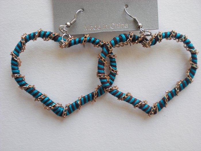 Heart Earrings (Blue)