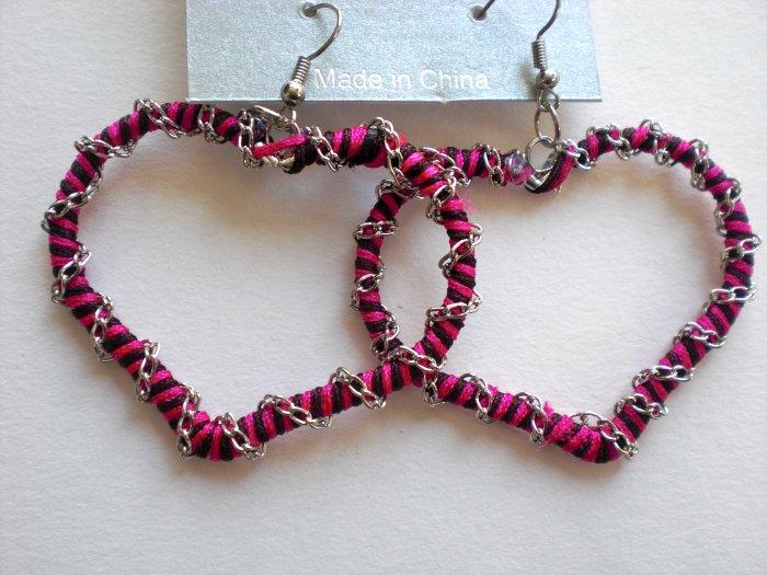 Heart Earrings (Pink)
