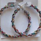 Beaded Hoop Earrings (Rainbow)