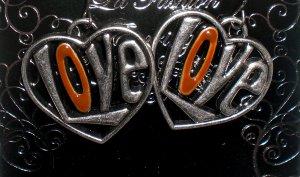Heart with Love Earrings