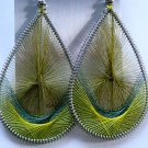 Threaded Earrings (Earthy Greens)