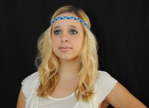 Braided Headband (Blue)