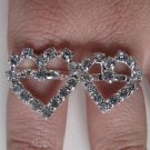 Two Finger Heart Ring (Silver)