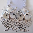 Large Owl Earrings (Silver)